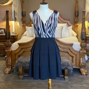 Armani Exchange Tiered Ruffle Mini Dress Size 2